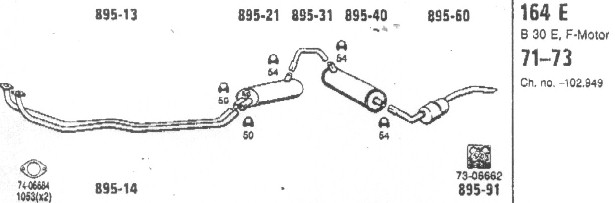 exhaust volvo 164 Audi Quattro Engine Diagram the number as indicated underneath the part, is scandcar\u0027s article number